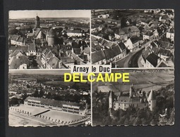 DD / 21 CÔTE D' OR / ARNAY-LE-DUC / SÉRIE EN AVION AU-DESSUS / DIFFERENTS ASPECTS DE LA COMMUNE / MULTIVUES / 1964 - Arnay Le Duc