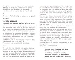 Devotie - Doodsprentje Overlijden - Schepen - D.d. Burgemeester - Henri Geldhof - Zeveneken 1900 - Gent 1986 - Décès