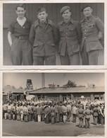 2 CARTE PHOTO:ALLEMAGNE PRISONNIERS FRANÇAIS CAMP STALAG KERMESSE 1943,PORTRAIT DE QUATRE MILITAIRES - Autres