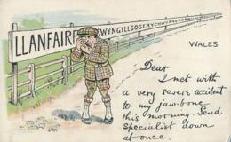 R022726 Old Postcard. Wales. A Man. Valentine - Cartes Postales