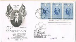 32530. Carta WASHINGTON 1971. 50 Ann. Revolution China. SUN YAT SEN - Estados Unidos
