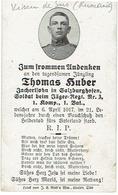 Thomas HUBER - Soldat Beim Jäger Regt. Nr.3, 1.Komp., 1.Bat. +1917 - Begraven VISEU De SUS - 1914-18