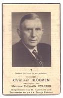 Devotie - Doodsprentje Overlijden - Burgemeester Christiaan Bloemen - Reppel 1882 - Sint Huibrechts Lille 1958 - Décès