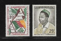 CAMEROUN  ( AFCA - 227 )  1960  N° YVERT ET TELLIER   N° 310/311   N** - Cameroun (1960-...)