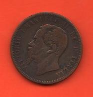 10 Centesimi 1866 Mi Moneta Vittorio Emanuele II° Savoia Regno D'Italia - 1861-1946 : Regno