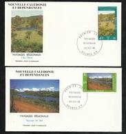 DC 2 Lettres Premier Jour Nouméa Le 28/10/1986 Les N° 525 Et  526 Paysages  Paysage Du Sud Et Côte Ouest TB - Briefe U. Dokumente