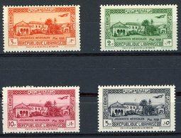 N°75 à 78, LIBAN Série De 4 Valeurs Neuves Sans Charnières ** (MNH) Cote 28.6€. Voir Description - Unused Stamps