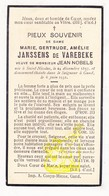 DP Adel Noblesse - Marie G. Janssens De Varebeke ° St.-Niklaas 1857 † Gent 1931 X Medestichter Krant Het Volk JB. Nobels - Images Religieuses