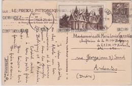 CP - POITIERS-GARE / 9.IX.31 - Marcophilie (Lettres)
