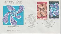 Afars Et Issas FDC 1974 UPU 388-89 - Afar- Und Issa-Territorium (1967-1977)