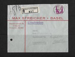 HEIMAT BASEL → 1934 R-Brief Max Streicher Basel 10 Elisabethen - Briefe U. Dokumente
