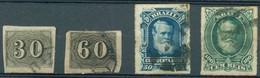 Brésil - 1850/1866 Et 1878/1879 - Yt 13A - 14A - 39 - 41 - Oblitérés - Brasilien