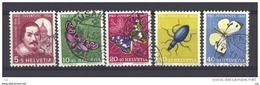 Suisse  -  1956  :  Yv  581-85  (o) - Pro Juventute