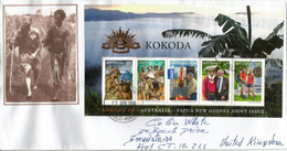 Kokoda Track.1942 World War II Battle Between Japanese & Australian In Papua-New Guinea. MS On Letter Sent To UK - 2. Weltkrieg