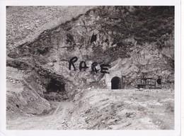 PHOTO ANCIENNE,MINE,MINEUR,OUVRIER,73,74,SAVOIE,1951,CONSTRUCTION CENTRALE ELECTRIQUE SOUTERRAINE,RANDANS,ISERE,ARC, - Orte