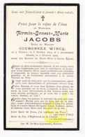 DP Firmin E. Jacobs ° Ninove 1852 † 1909 X Couronnée Wincq - Images Religieuses