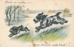 FAUTE DE MERLES... POUR UN JOUR SANS BOEUF ! ... ( ILLUSTRATEUR GERMAINE BOURET ) ( CARTE NON SIGNE G. BOURET ) - Bouret, Germaine