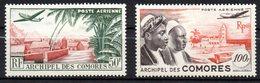 Col 14 /  Comores PA  N° 1 & 2 Neuf X MH Cote   10,00 € - Poste Aérienne