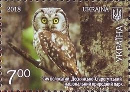 UKRAINE 2018. SUMY REGION: OWL Aegolius Funereus, HORSE RIDING, CHURCH. Mi-Nr. 1761-64 Block 158. MNH (**) - Hiboux & Chouettes