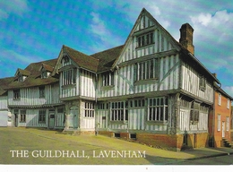 England Suffolk Lavenham Guildhall Postcard Unused Good Condition - England