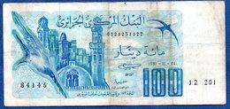 Algérie  - 100 Dinars 1/11/1981   -- Km # 131 -  état  TB - Algérie