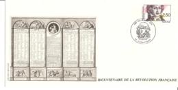 FRANCE- FDC - Saint Just - Oblitération Blérancourt - Révolution Française