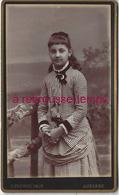 CDV Jolie Fillette Robe Pied De Poule-mode Enfant Photo Yrondy Rue Des Belles Filles à Auxerre- Bel état - Photos