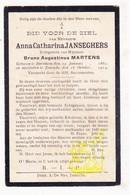 DP Anna Cath. Janseghers ° Bornem 1862 † Temse 1914 X Bruno A. Martens - Images Religieuses