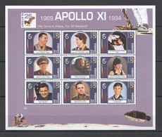 P367 1994 GAMBIA SPACE APOLLO XI 25TH ANNIVERSARY GAGARIN TERESHKOVA 1KB MNH - Espace