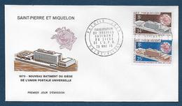 St Pierre Et Miquelon - N° 399 / 400  Sur FDC - ( Cote Des Timbres Oblitérés 19,20 € ) - FDC