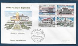 St Pierre Et Miquelon - N° 387 / 390  Sur FDC - ( Cote Des Timbres Oblitérés 24,60 € ) - FDC