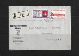 HEIMAT BASELLAND → 1939 R-Brief Berzirksschreiberei Liestal - Schweiz