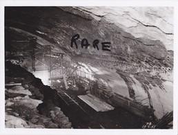 PHOTO ANCIENNE,MINE,MINEUR,OUVRIER,73,74,SAVOIE,1951,CONSTRUCTION CENTRALE ELECTRIQUE SOUTERRAINE,RANDANS,ISERE,ARC, - Places