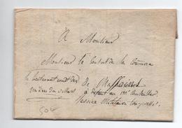 1815 - LETTRE FRANCHISE LIEUTENANT COMMANDANT DE LA MILICE DE VILLARS SUR VAR (ALPES MARITIMES / COMTE NICE) > MASSOINS - 1801-1848: Voorlopers XIX