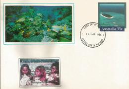 The Great Barrier Reef. World Heritage.Australia. Hoskyn Island. Postal Stationery. Entier Postal - Meereswelt