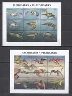 P373 GUYANA FAUNA PREHISTORIC ANIMALS REPTILES DINOSAURS !!! 2KB MNH - Briefmarken