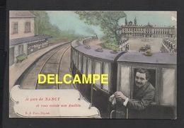 DD / 54 MEURTHE ET MOSELLE / NANCY / JE PARS DE NANCY ET VOUS ENVOIE MES AMITIÉS / CHEMIN DE FER / 1907 - Nancy