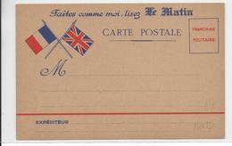"""1939/1940 - CARTE FM PUBILCITAIRE JOURNAL """"LE MATIN"""" - PUB RICQLES AU DOS - Marcophilie (Lettres)"""
