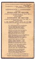 Devotie Doodsprentje Overlijden - Marie José & Godelieve De Ruyver - Geraardsbergen - Ongeval Aalst - Pamel 1937 - Décès