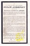 DP Julia Josephy ° Meldert Aalst 1857 † Laar Landen 1923 X Dominicus L. Loriers - Images Religieuses