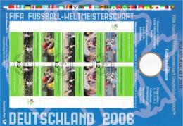 """Rep.Fed.Tedesca 2006: Depliant Con Minifoglio Usato """"Campionati Del Mondo FIFA. Germania 2006"""" - [7] Repubblica Federale"""