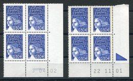 RC 12519 FRANCE MARIANNE DE LUQUET COINS DATÉS - DATES DIFFERENTES NEUF ** TB - Francia