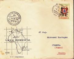 MOZAMBICO 1956 - BUSTA FDC VIAGGIO PRESIDENZIALE. - Mozambico
