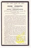 DP Remi Joseph ° Kortemark 1881 † 1928 X M. DeBusschere - Images Religieuses