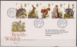 Grossbritannien 1977 MiNr.745 - 749 FDC Einheimische Wildtiere( D 3135 )günstige Versandkosten - FDC