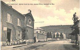 PROFONDEVILLE Café De L' Arrêt Du Tram, Jaumain Drèze, Marchand De Bois. - Profondeville