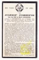 DP Jozef Joseph / DeBusschere 13j. ° Kortemark 1914 † 1928 - Images Religieuses
