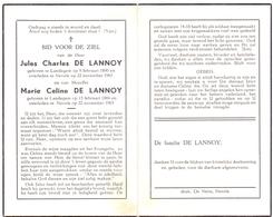 Devotie Doodsprentje Overlijden - Jules Charles  & Marie Celine De Lannoy - Landegem - Nevele 1965 - Décès