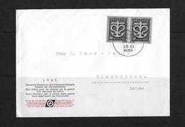 HEIMAT AARGAU → 1945 Schw. Spende An Kriegsgeschädigten Bern Nach Glashütten - Schweiz