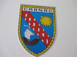 Autocollant Ancien Blason Carnac Double Face 8,5 Cm / 6 Cm - Stickers